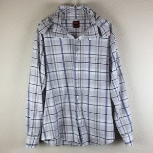 Nike Button Up Flannel w/ Packable Hood